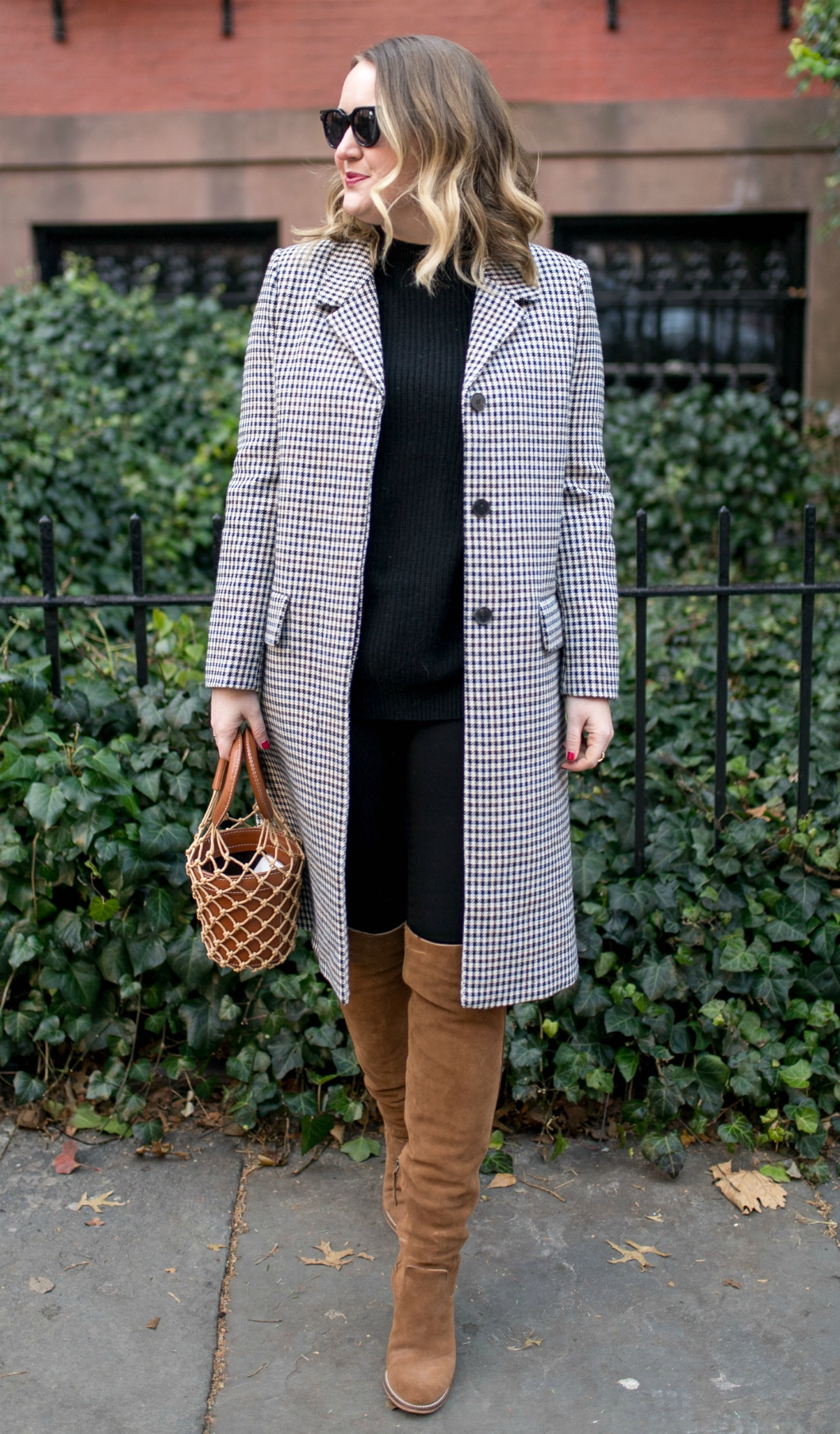 Houndstooth Coat I wit & whimsy