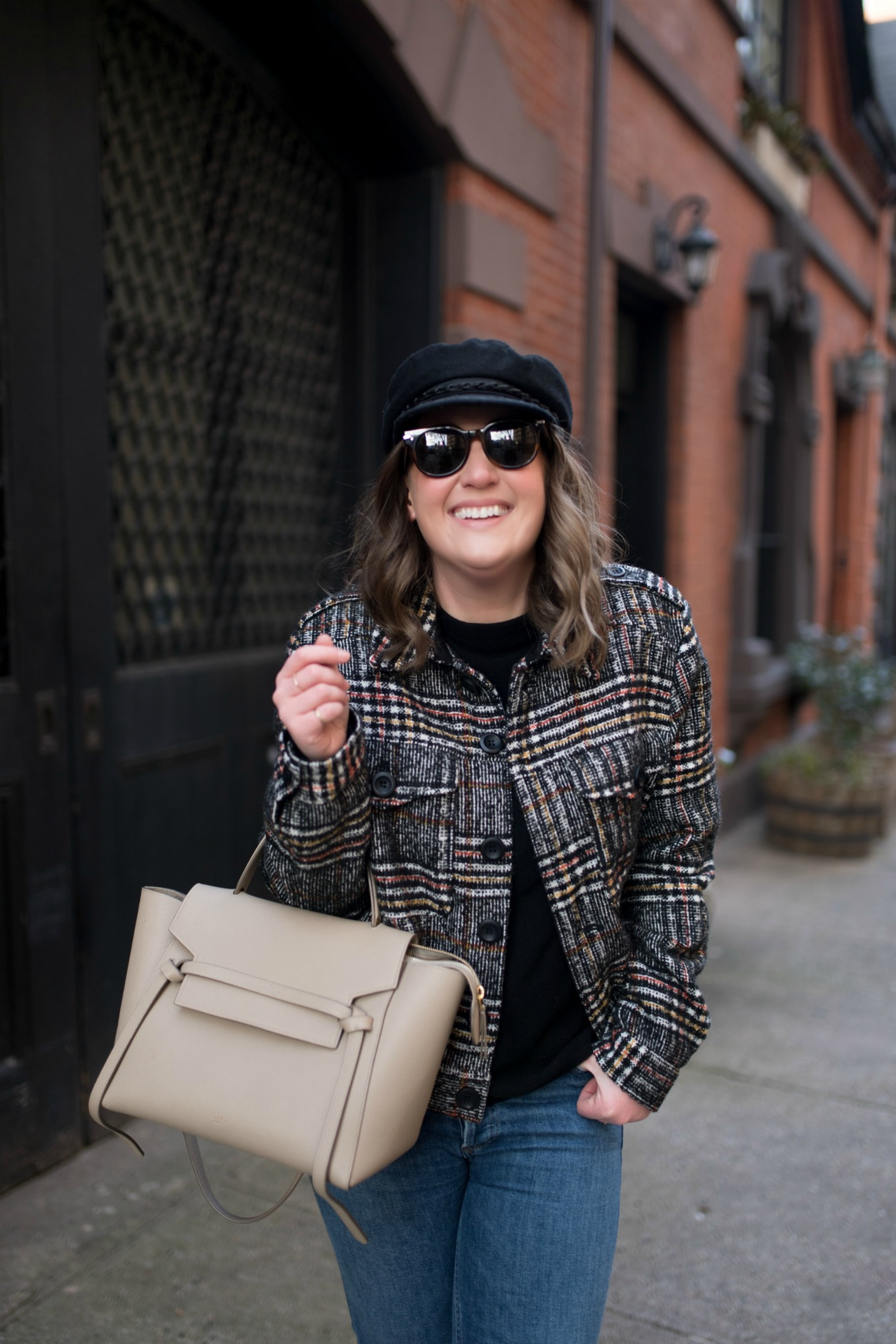 Plaid Cropped Jacket I wit & whimsy