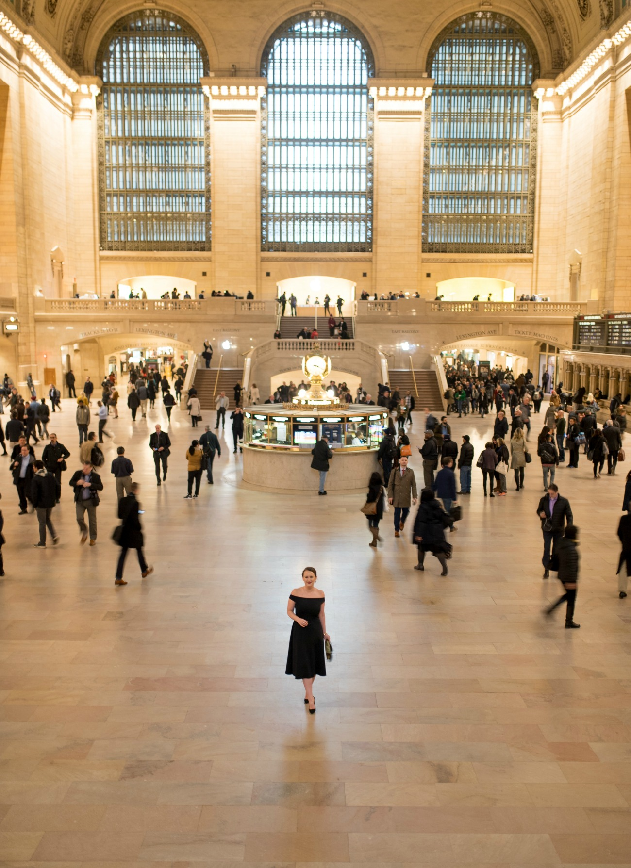Little Black Dress in Grand Central Station I wit & whimsy