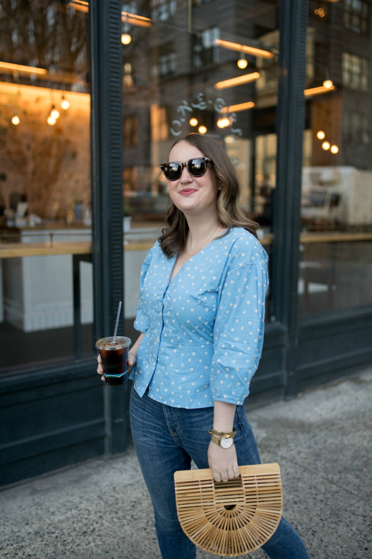 Polka Dot Peplum + Jeans I One of my Favorite Silhouettes to Wear | wit & whimsy