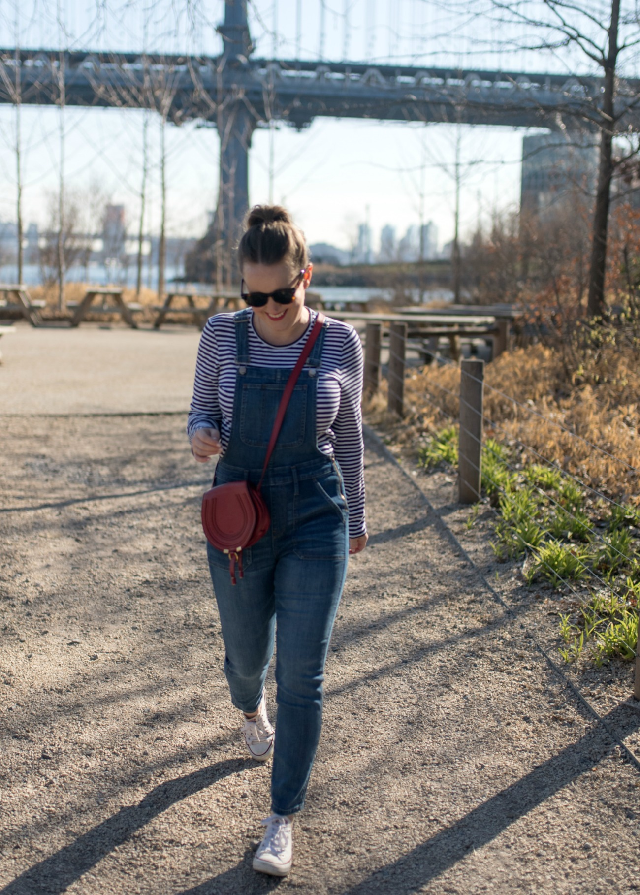 Overalls + Striped Tee I wit & whimsy