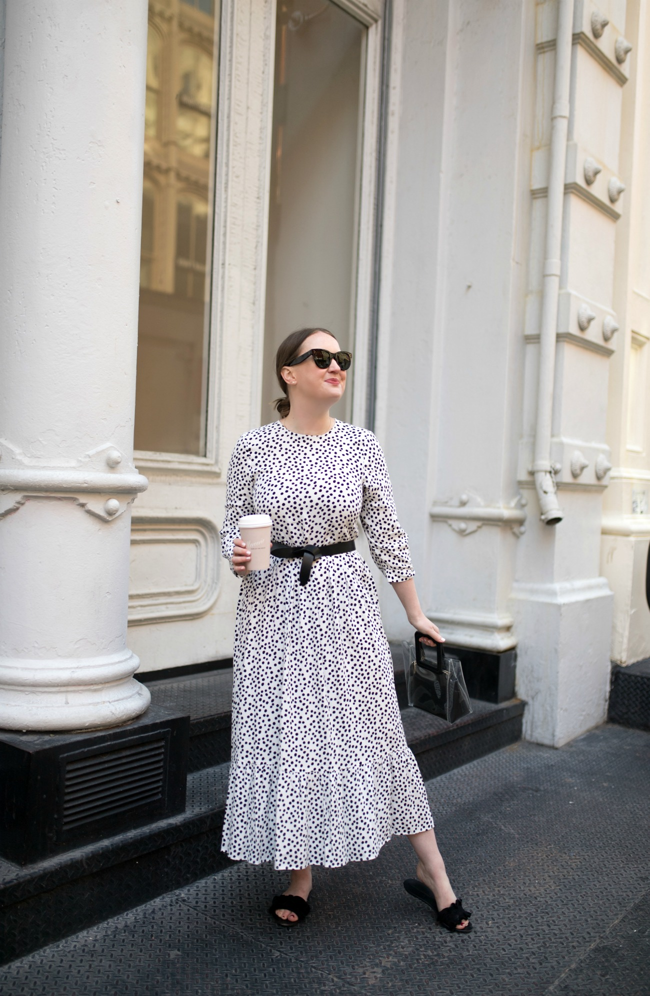 Polka Dot Dress Belted I wit & whimsy