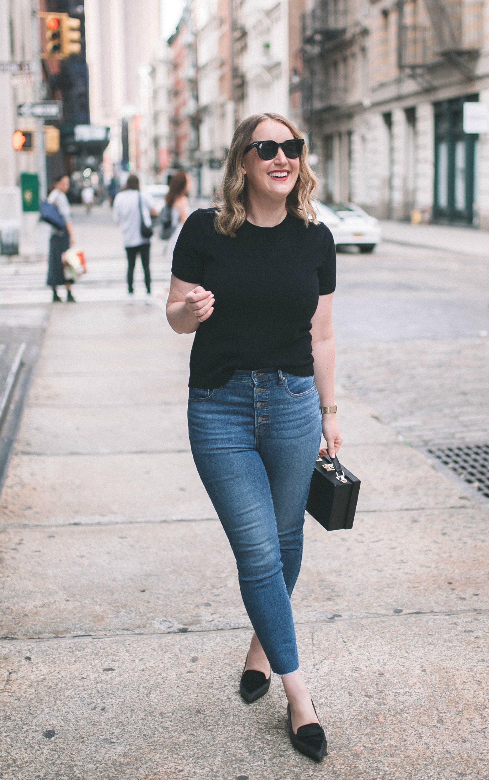 Cashmere Tee + Jeans I wit & whimsy