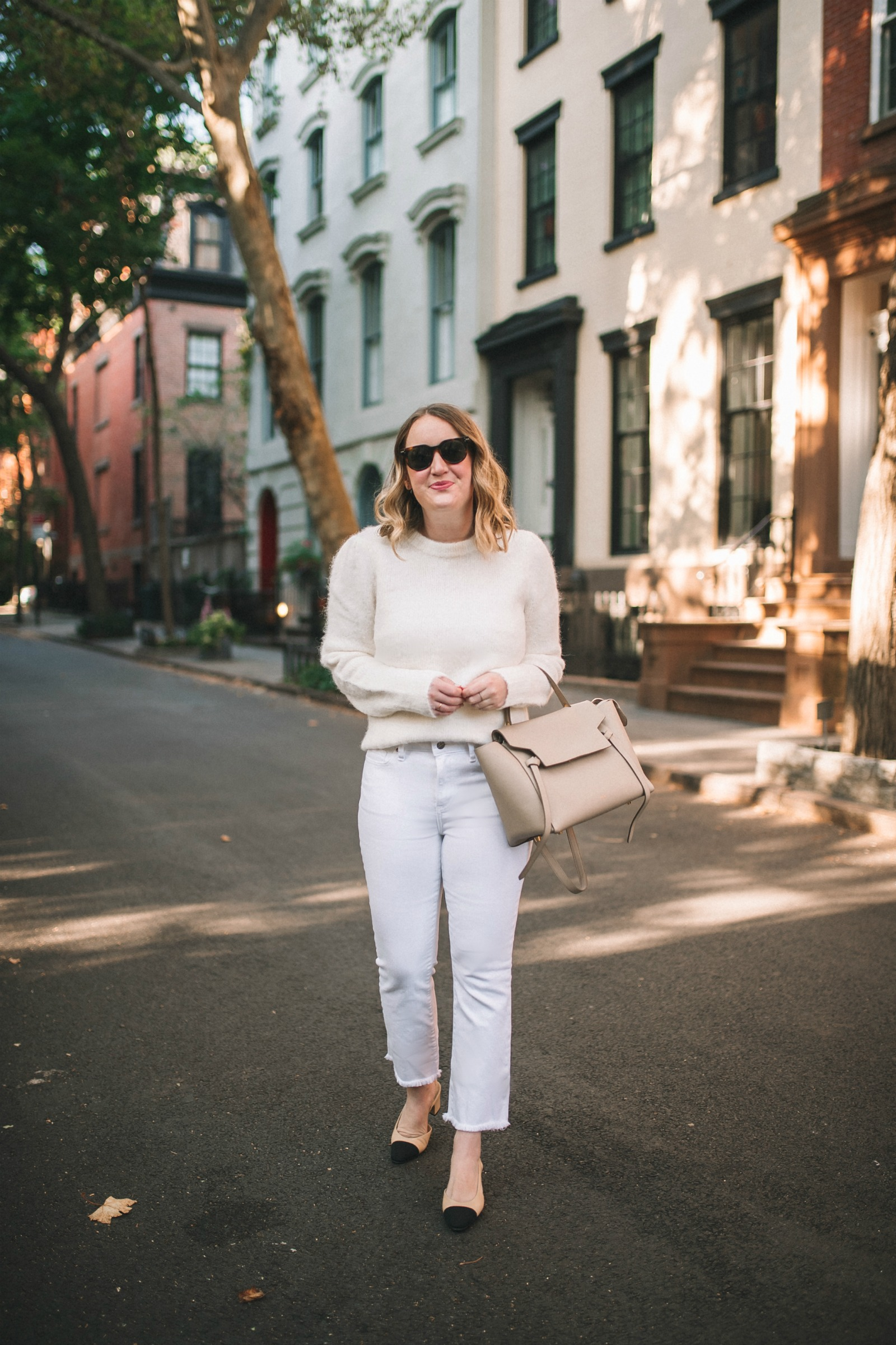 Wardrobe Favorites Under $200, All White Fall Outfit I wit & whimsy