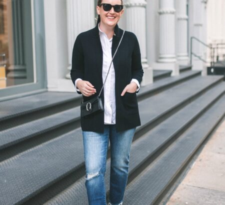 The J.Crew Sweater Blazer Styling Ideas