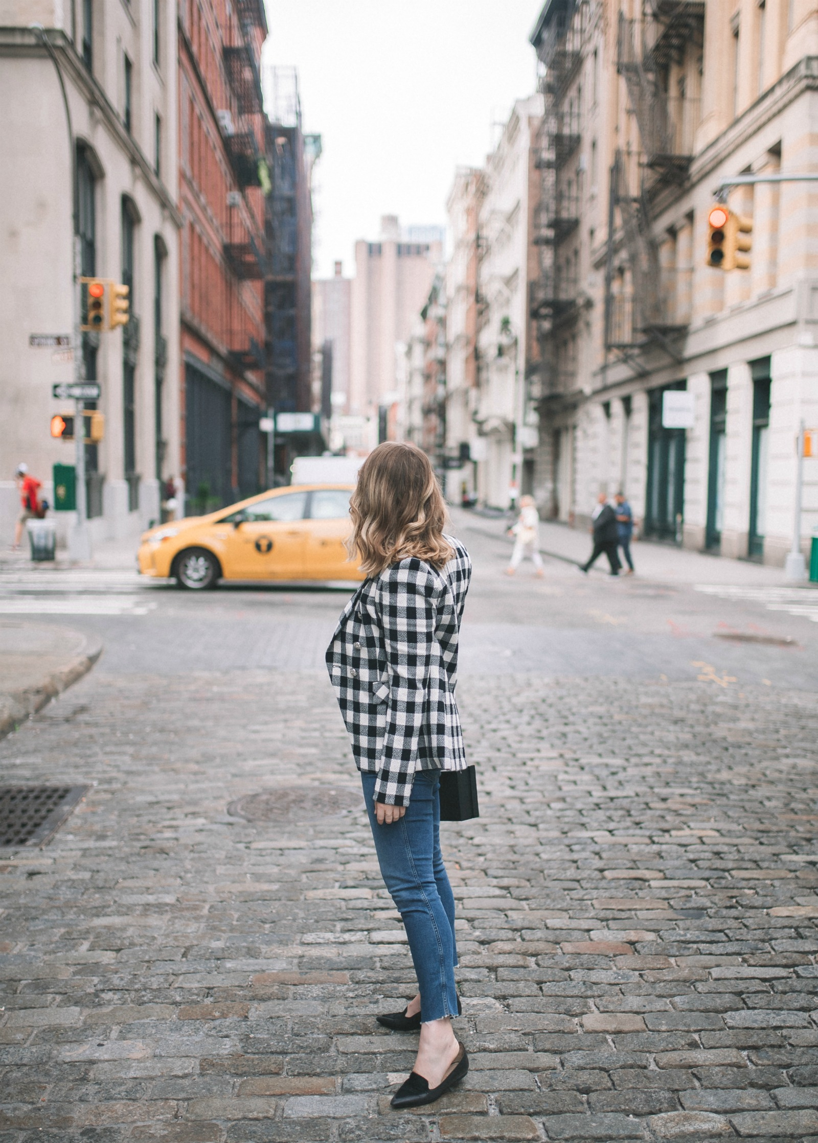 Plaid Jacket + Jeans I wit & whimsy
