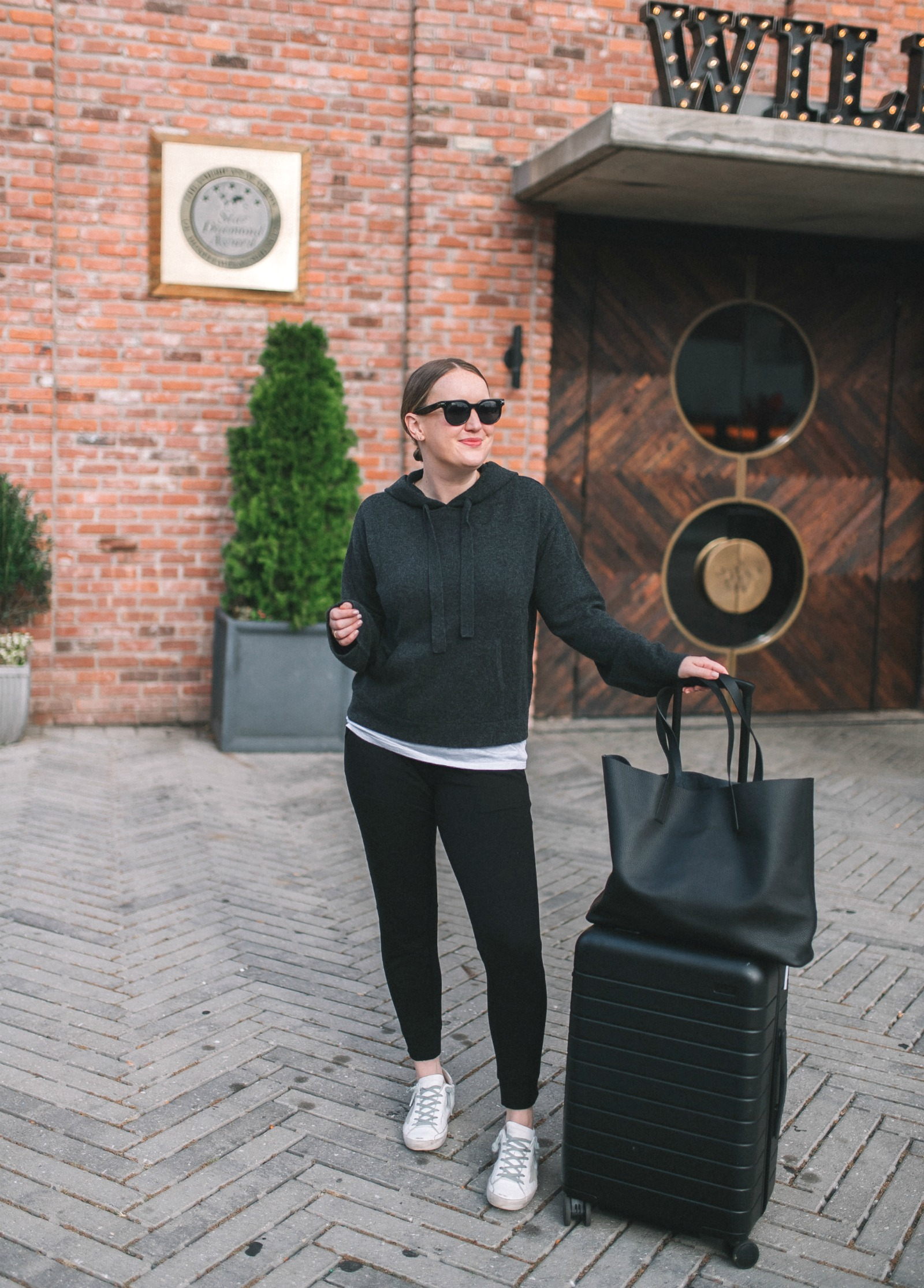 Cozy Yet Stylish Travel Outfit I wit & whimsy