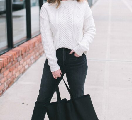Cable Knit Sweater + Hitting Reset
