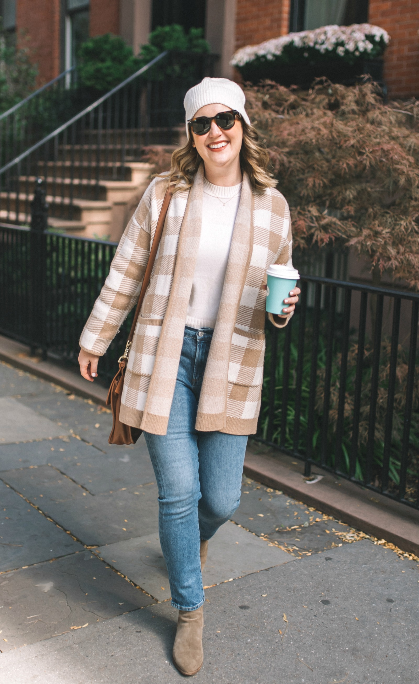 Madewell Buffalo Check Sweater Coat I wit & whimsy