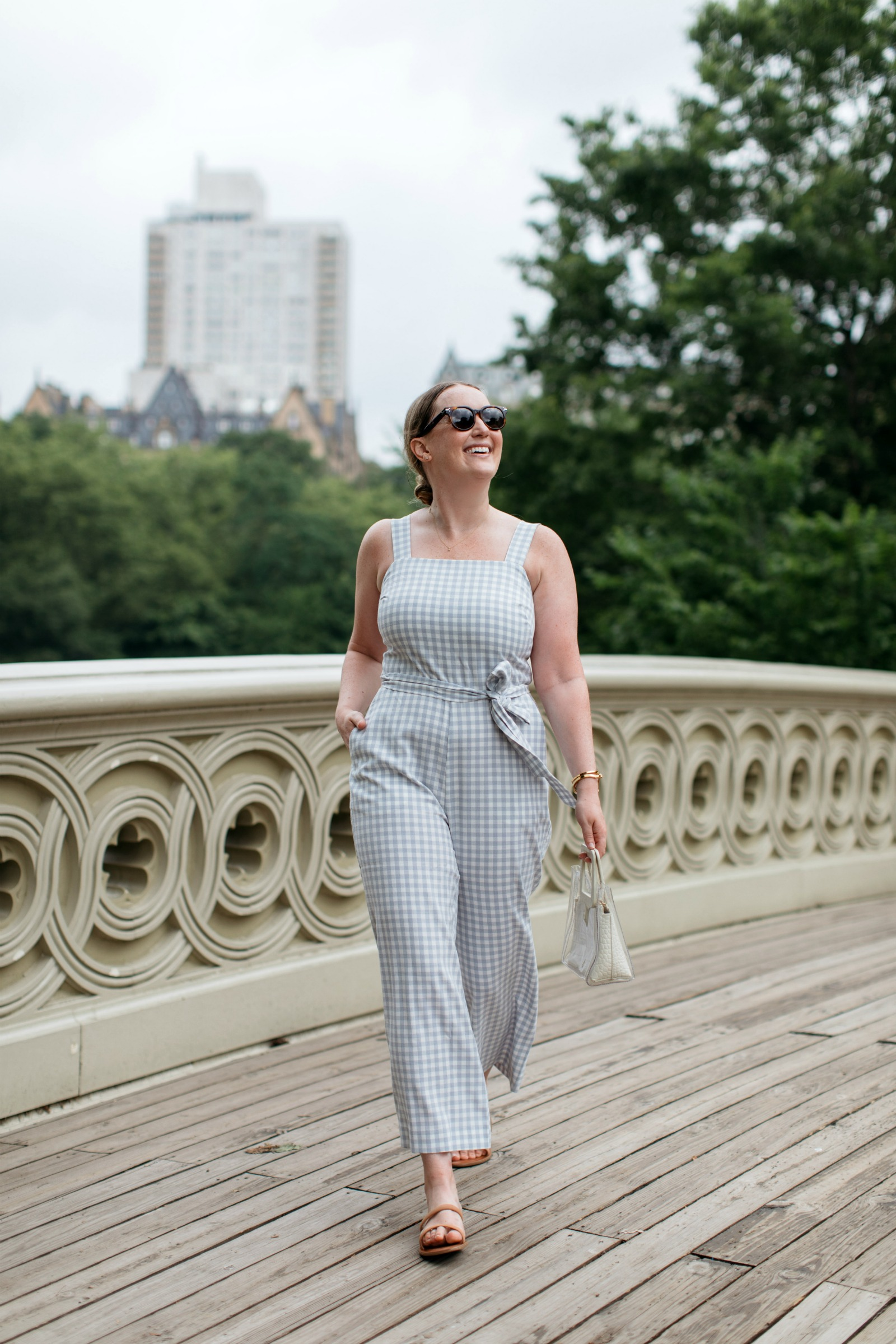 Summer Gingham Jumpsuit I wit & whimsy