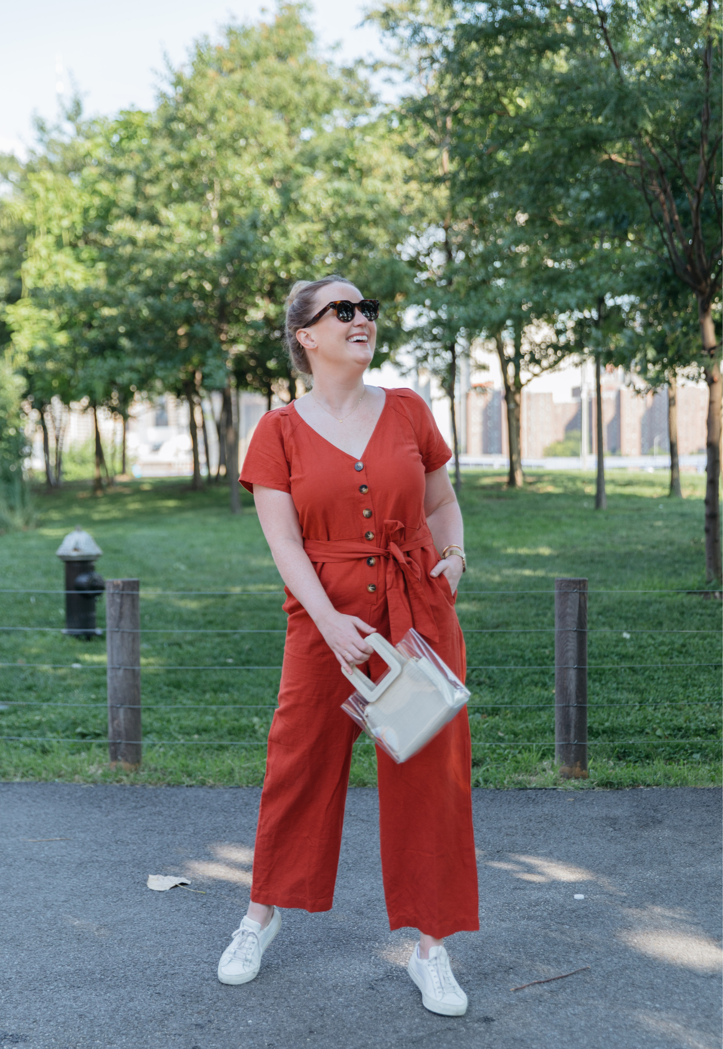 Colorful Linen Jumpsuit I wit & whimsy