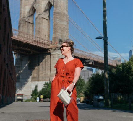 A Comfy, Colorful Linen Jumpsuit