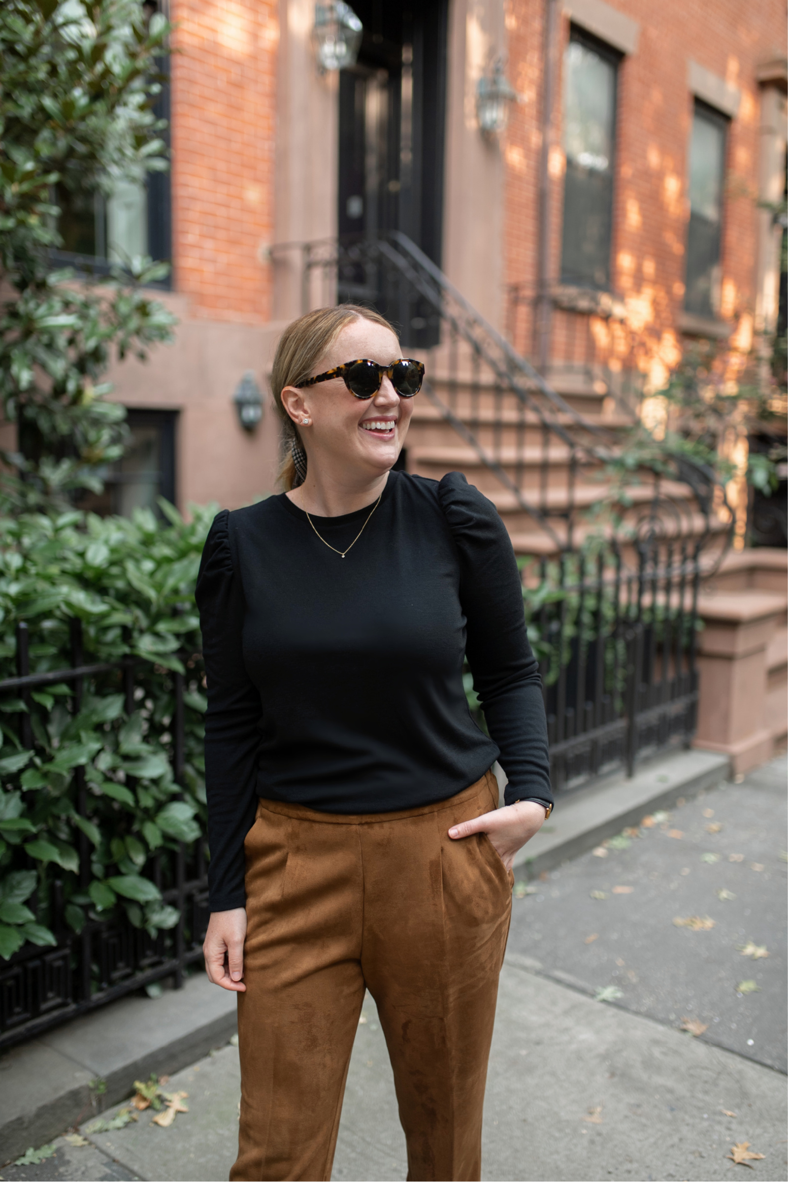 Ann Taylor Suede Pants I wit & whimsy | Stay Home Fall Bucket List