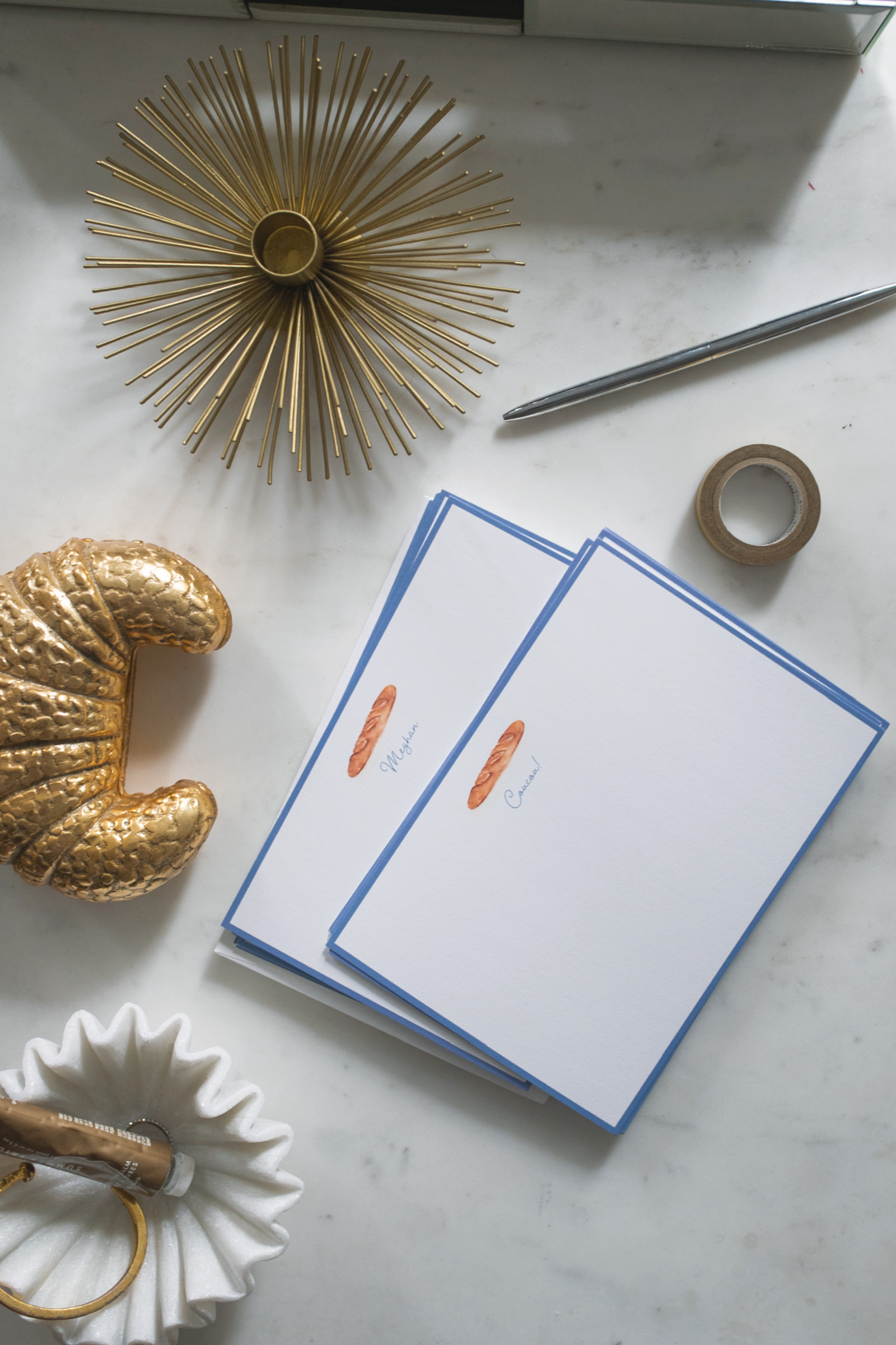 wit & whimsy x The Illustrated Life Baguette Stationery