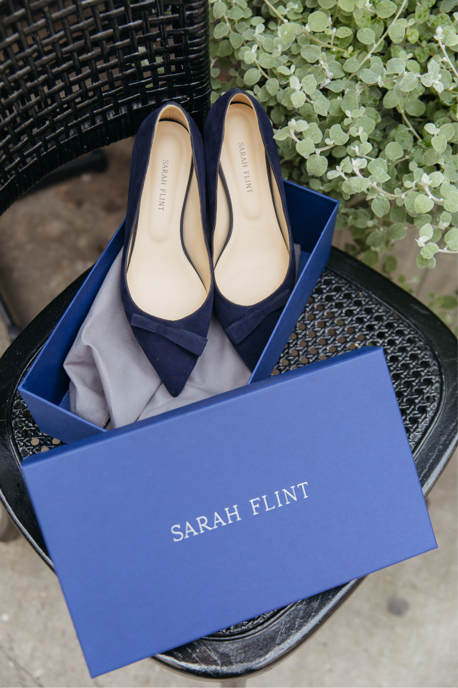Sarah Flint Natalie Flat in Navy I wit & whimsy