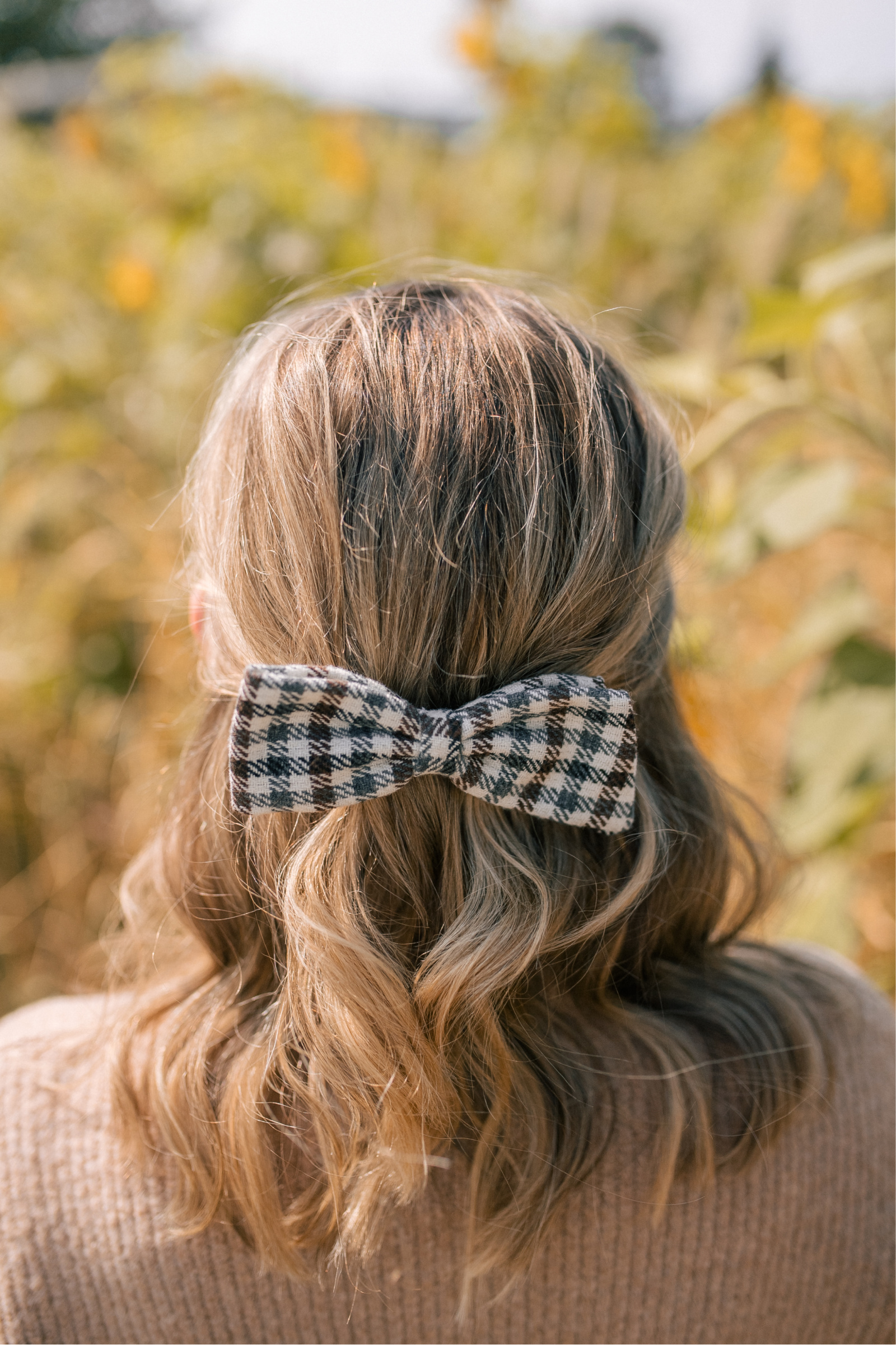 J.Crew Plaid Bow I wit & whimsy