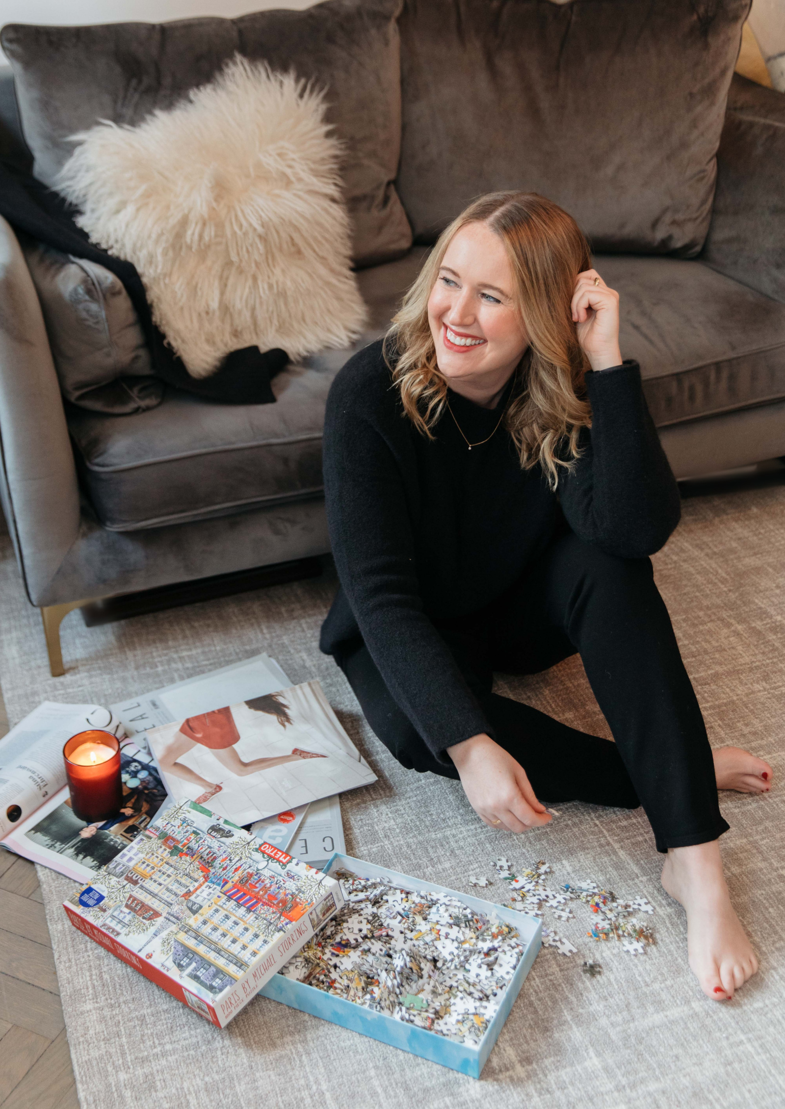 Fun Holiday Activities At Home | Eileen Fisher Cozy Home Outfit I wit & whimsy