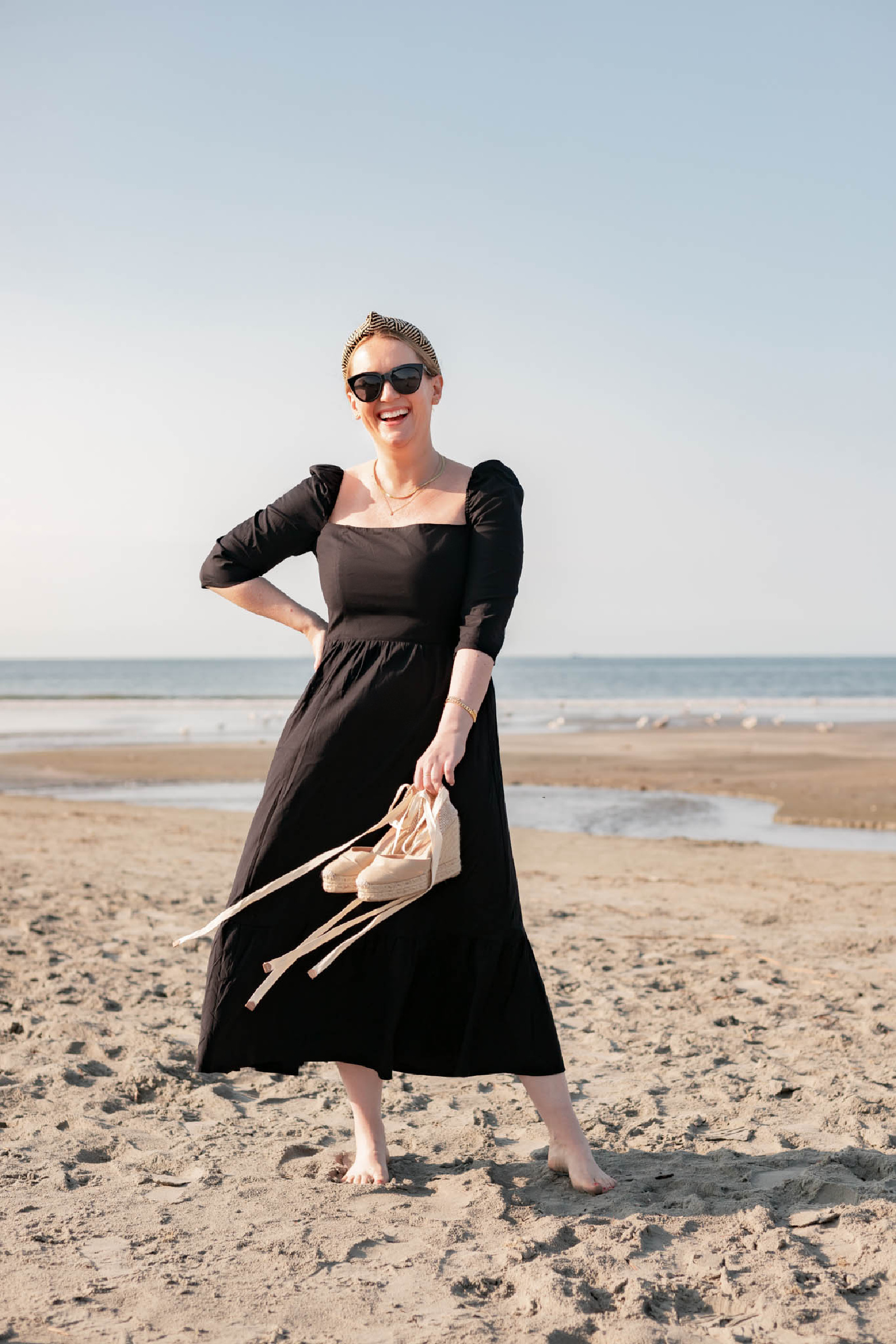 Reformation Cyprus Dress on the Beach